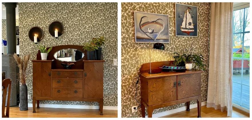 Ny plats för älskade och ärvda möbler. Eklektisk med en blandning av tidsepoker och stilar. Något vi inredarer hos Myhres & Coey älskar.