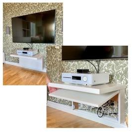 Smart DIY kabelgömma till TVn
