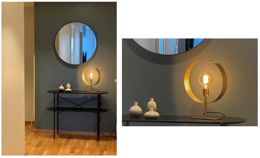 En mindre lampa för trevlig belysning i hall.