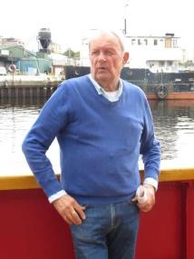 Mats Wiberg berättade om fyrskeppet, dess öden och hur manskapet hade det