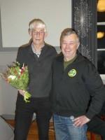 Per-Göran avtackas av ordf. Michael Mattsson