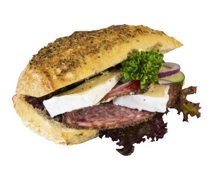 Surdegsfralla med salami & brie