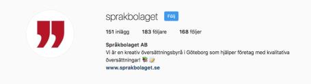 Språkbolaget - partner i språks Instagram