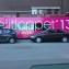 Helfolierad buss med logga.