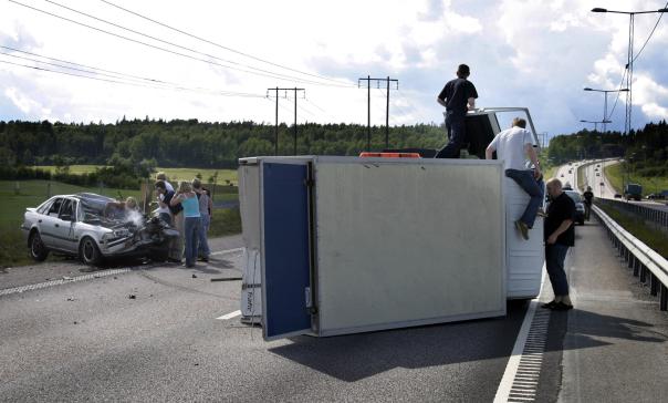 Olycka, länsväg 276.