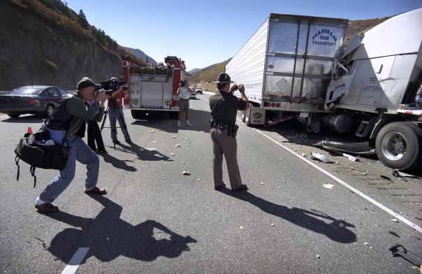 Olycka, Utah, bromsarna tog slut...