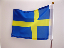 Single sided car flag