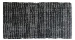 Art.221 Sissela, Grå/svart. Storlekar: 80x200 cm, 80x300 cm.Latex baksida.