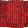 Art.490 Kerala/Cardinal röd i jute. Storlek: 60x90 cm.