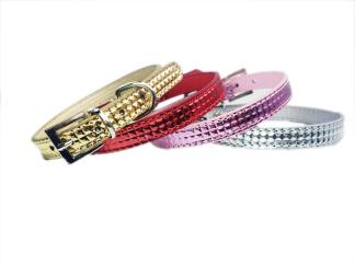 Halsband i olika färger - Röd Small