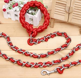 Koppel ink halsband - Röd