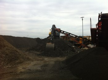 krossning av asfalt