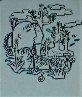 Litografi av Sigvard Bernadotte