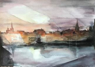 Kväll i Stockholm av Ingela Matsson
