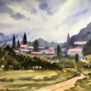 Fjällby i Montenegro av Tanya Lundmark
