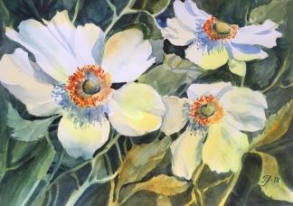Vita anemoner av Tanya Lundmark