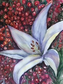 Vit lilja av Tanya Lundmark