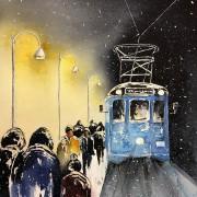 Blå spårvagn av Louice Pettersson