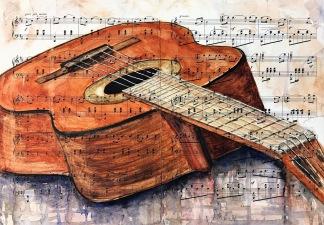 Gitarr av Louice Pettersson
