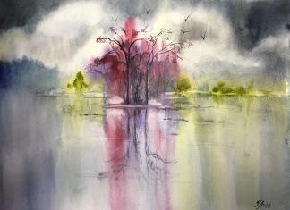 Abstrakt landskap av Tanya Lundmark