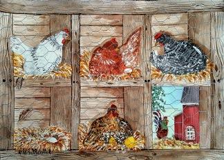 Hönor i hönsgården av Kristina Blakstad