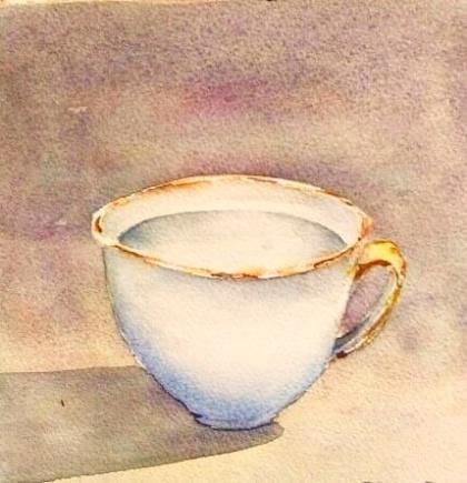 Guldkant av Bosse Blomén Svensson, akvarell. Pris: 1900 kr