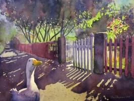 Vem katten glömde stänga grinden? av Tina Thagesson. Pris 1100 kr