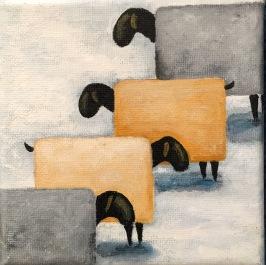 Linedance av Anne-Marie Björstrand. Akryl. Mått 12 x 12 cm. Pris 290 kr
