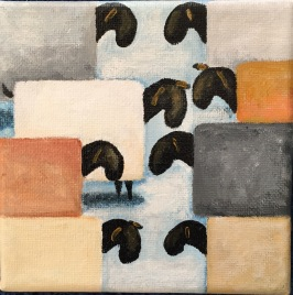 Menuett av Anne-Marie Björstrand. Akryl. Mått: 12 x 12 cm. Pris 290 kr