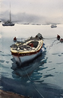 Båt i vila av Benny Stigsson