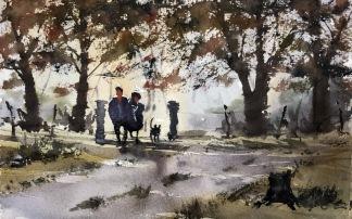 Höst i parken av Benny Stigsson