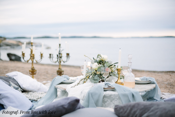 hyra vintage porslin till bröllop och fest dukning