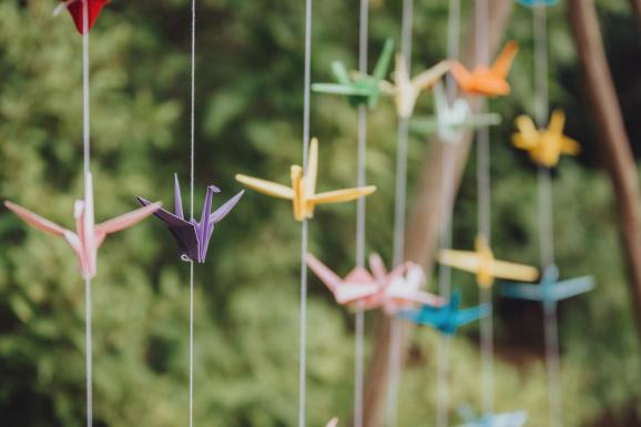 origami, vika tranor, dukning, dukningstips, inspiration, dukningsinspiration