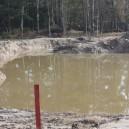 Början av dammbygge