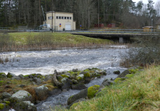Kraftverket vid Lidekvarn.