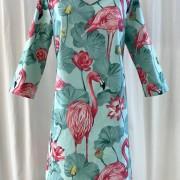 Klänning Solbritt Stor Flamingo