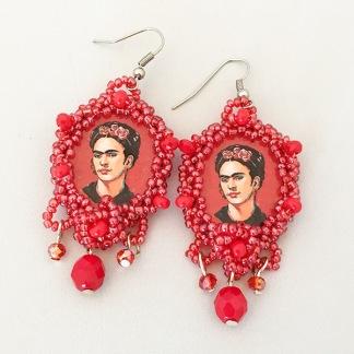 Örhänge Frida Red -