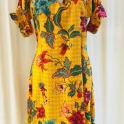 Anemona klänning Solgul