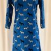Dahlia klänning Blå zebra - XX Large