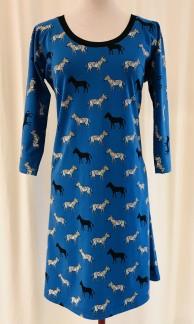 Dahlia klänning Blå zebra - Small