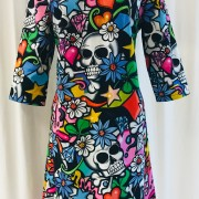 Solbritt klänning Grafitti