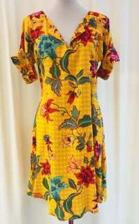 Anemona klänning Solgul - Small
