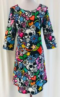 Solbritt klänning Grafitti - Large