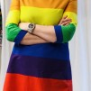 Klänning Solbritt Regnbåge