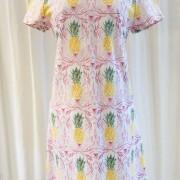 Solbritt klänning Pastell Ananas