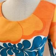 Solbritt klänning Sommarretro orange