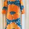 Solbritt klänning Sommarretro orange - XX Large