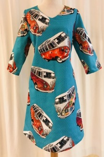 Solbritt klänning Retro VW Buss - Small