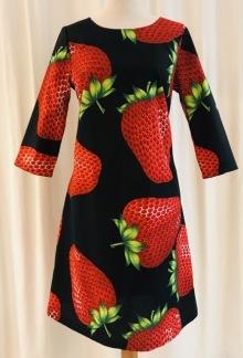 Solbritt klänning Jordgubbe - Small