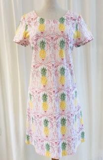 Solbritt klänning Pastell Ananas - Small